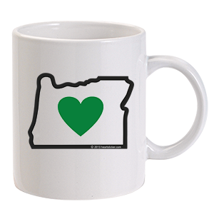 Heart in Oregon Ceramic 11.5oz Coffee Mug - Heart In Oregon