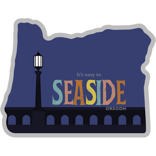 Seaside Oregon Sticker - The Heart Sticker Company