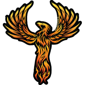 The Rising Phoenix Vinyl Sticker - Heart In Oregon