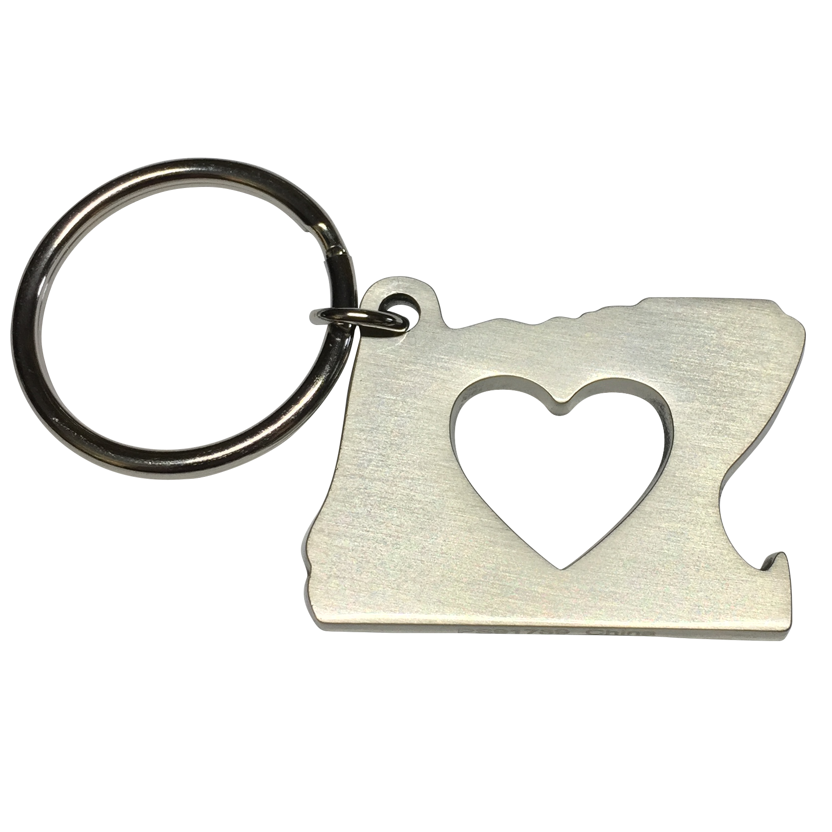Bottle Opener - Key chain - 2 finishes available - Heart In Oregon