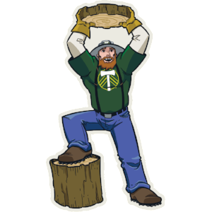 Portland Timbers Joey Vinyl Sticker - Heart In Oregon