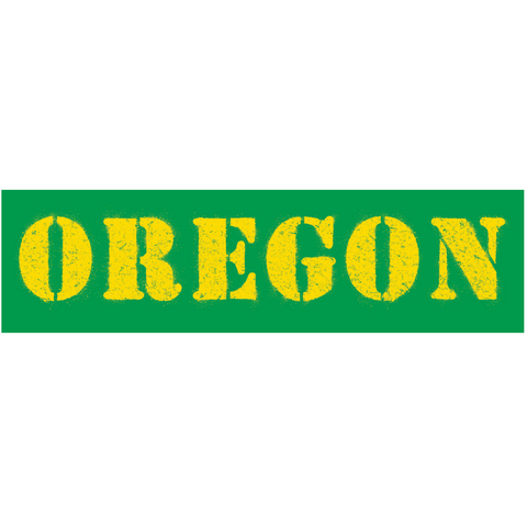 "Heart in Oregon Ducks ""O"" Sticker"