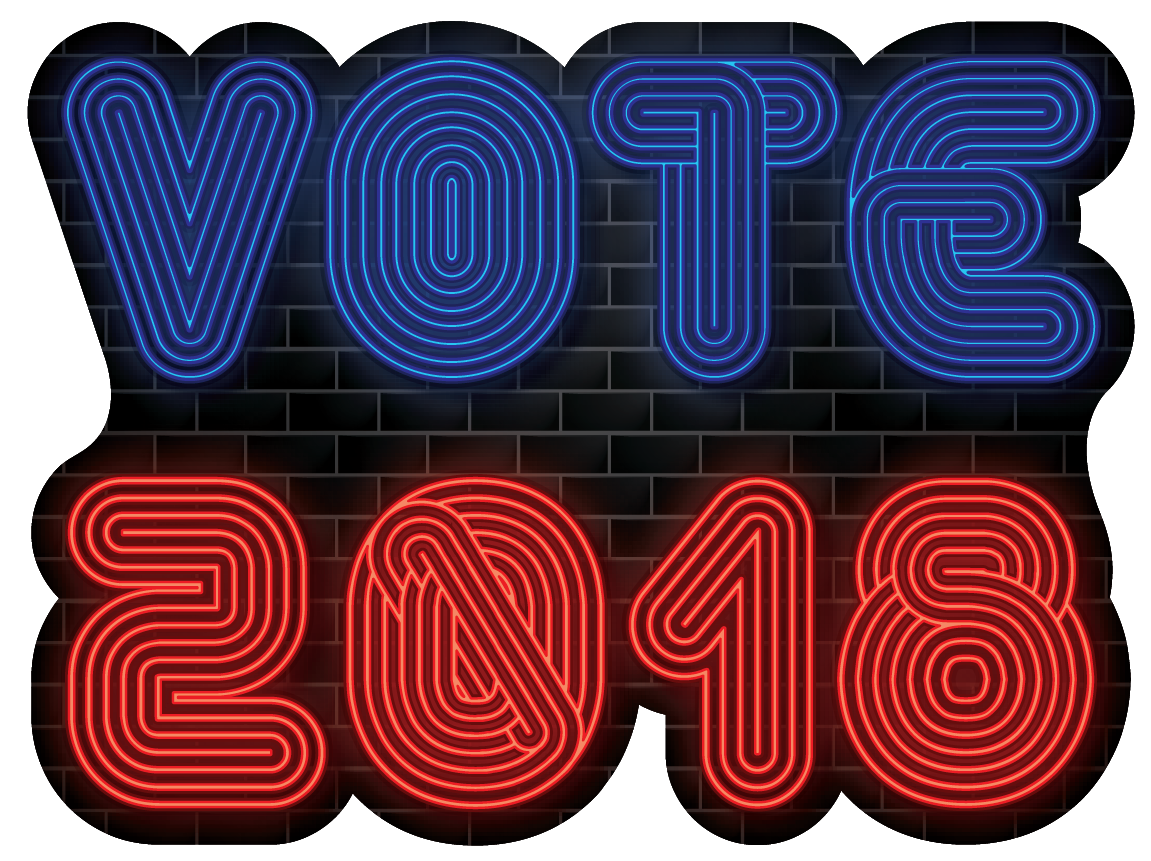 VOTE 2018 Neon Sign | Sticker - Heart In Oregon