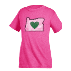 Kids T-Shirts Pink Heart in Oregon Vintage - Heart In Oregon