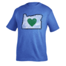 Kids T-Shirts Blue Heart in Oregon Vintage - Heart In Oregon