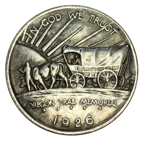 Oregon Trail Half Dollar Coin (Collectible) - Heart In Oregon