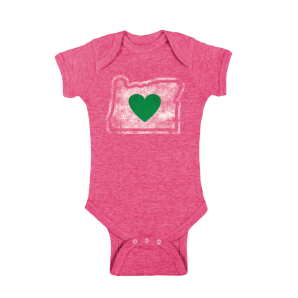 Infant Onesie Charcoal 6M & 12M | Heart in Oregon