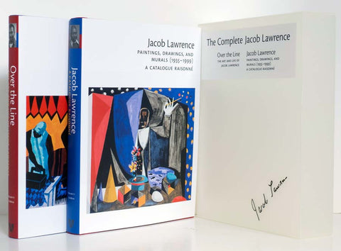 Complete Jacob Lawrence - Over the Line & Catalogue Raisonne 2 Volumes