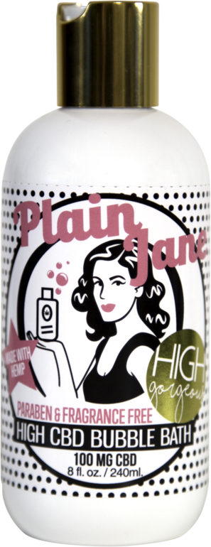 Hemp Gorgeous Plain Jane CBD Bubble Bath - 100mg Bubblebath | CBDPhilly.com
