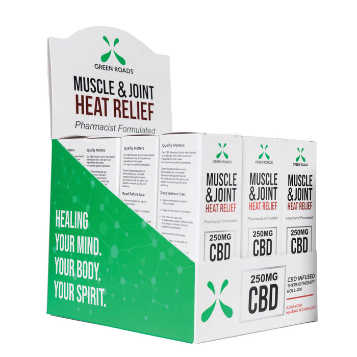 Green Roads Muscle & Joint Heat Relief 250mg CBD Oil Roll on