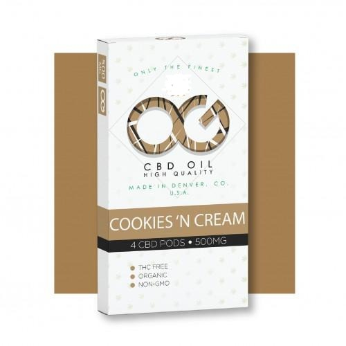 Og Laboratories Cookies'N Cream 500mg CBD Oil Juul Pods 4pk