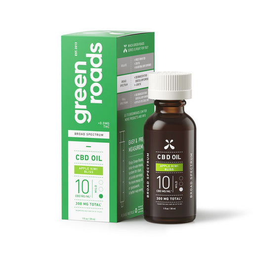 Green Roads APPLE KIWI BLISS BROAD SPECTRUM CBD OIL, 10MG/ML