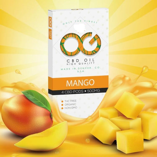 OG Laboratories Mango 500mg Juul pod 4-pack
