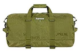 SUPREME army green duffle bag
