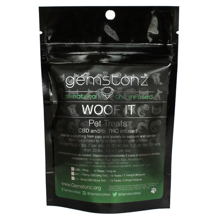 Gemstonz Woof It CBD infused Dog Treats