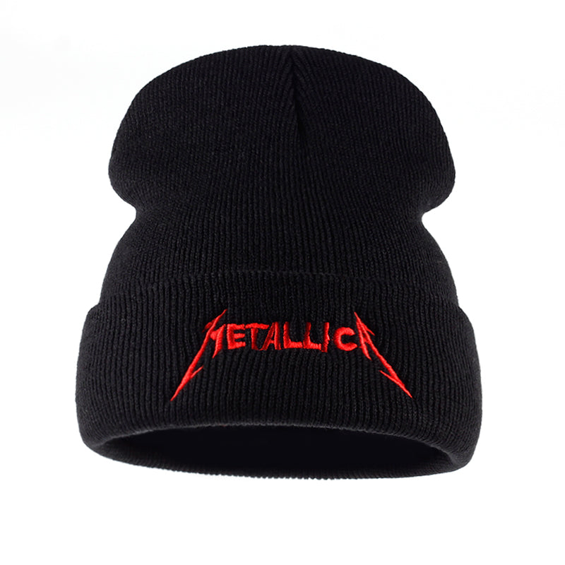 9d543690278 Hats N Beanies red cap band Metallica European and American Rock Music winter  hat High Quality