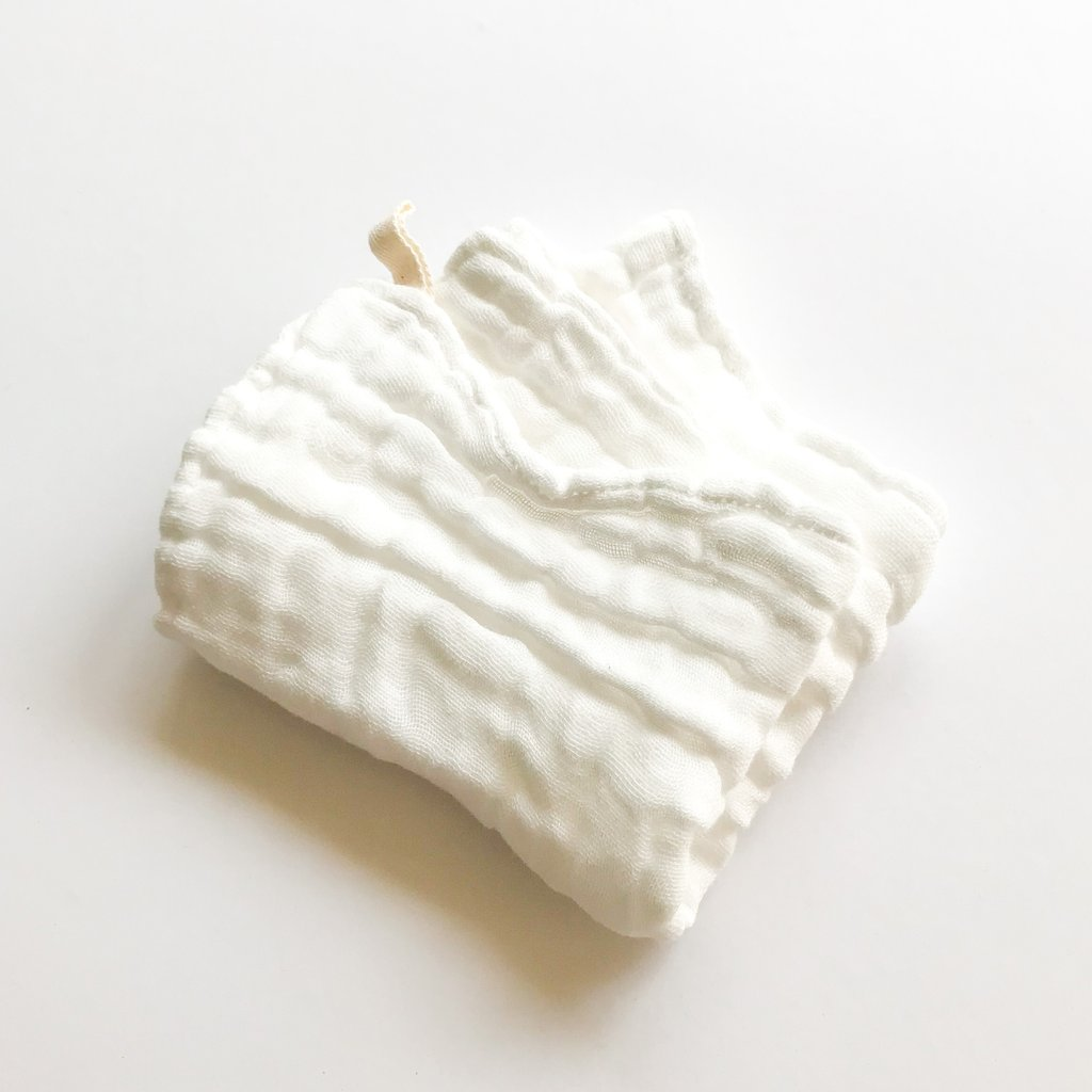 organic cotton muslin wash cloth. (2pack)