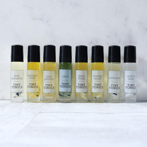 tiny tonics essential oil roller blends.