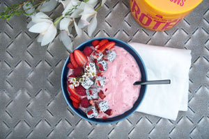 Strawberry-Raspberry Smoothie Bowl