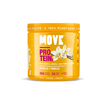 NEW! Protein with Fibers & Greens (Tub 454g, Vanilla)