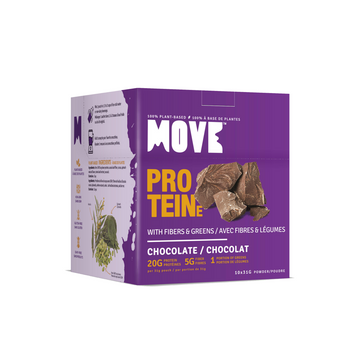 NEW! Protein with Fibers & Greens (Box 10 x 31g, Chocolate)