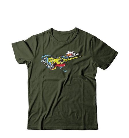 T-Shirt AIRPLANE - Military Green