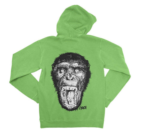 Hoodie SCREAM - Lime Green - C1RCA FOOTWEAR | Official Website