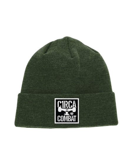 COMBAT Patch Beanie - Olive - C1RCA FOOTWEAR | Official Website