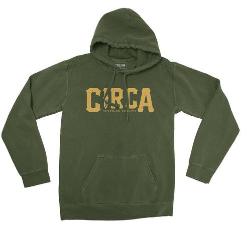Hoodie KNIFE - Military Green