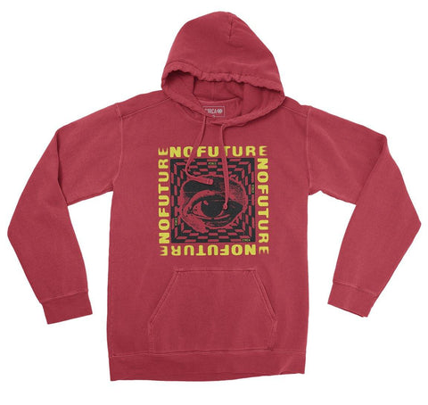 Hoodie NO FUTURE - Red - C1RCA FOOTWEAR | Official Website