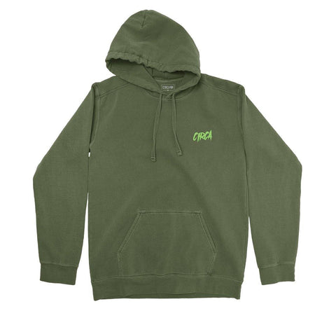 Hoodie CARDS - Military Green