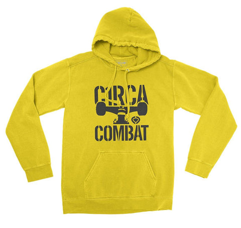 Hoodie COMBAT - Yellow - C1RCA FOOTWEAR | Official Website
