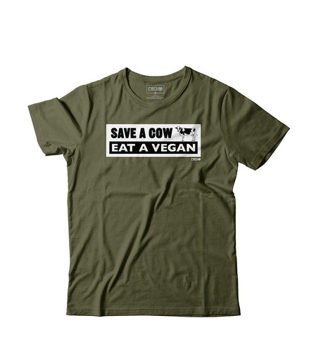 T-Shirt COW - Military Green