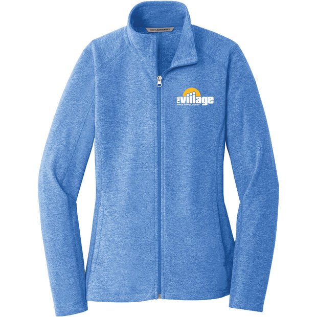 VFSC104. Women's Port Authority® Heather Microfleece Full-Zip Jacket