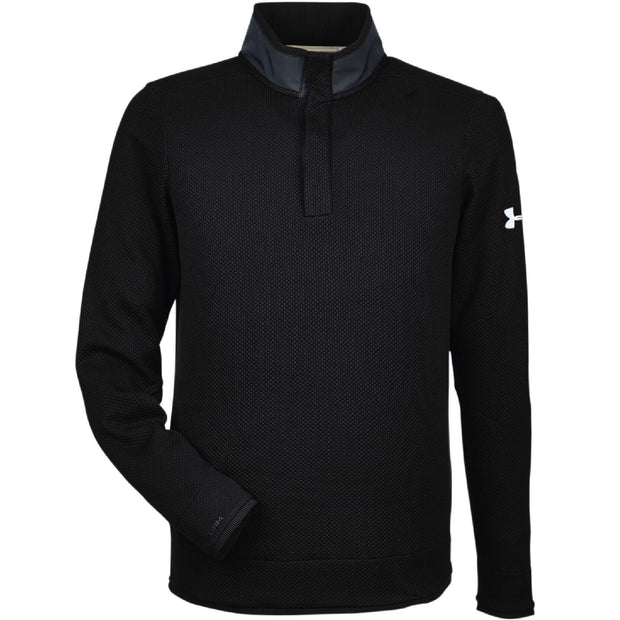 RDOT111. Men's Under Armour Corporate Quarter Snap Up Sweater Fleece