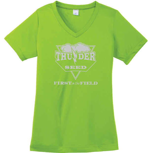 TSUS200. Ladies' PosiCharge V-Neck Tee