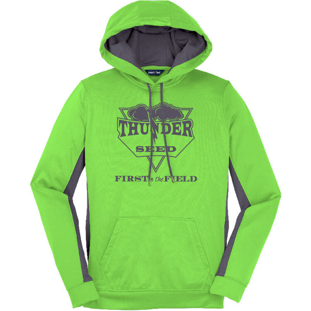TSUS207. Ladies' Fleece Colorblock Hoodie