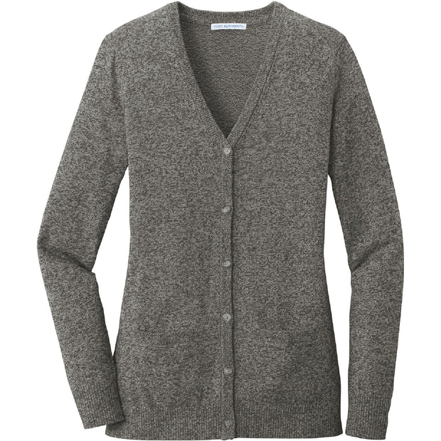 BYTE111. Women's Port Authority® Marled Cardigan Sweater