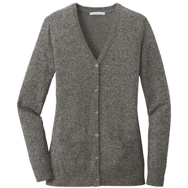 RDOT401. Women's Port Authority® Marled Cardigan Sweater