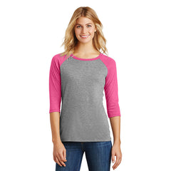 ACS104. Women's District® Perfect Tri® 3/4-Sleeve Raglan