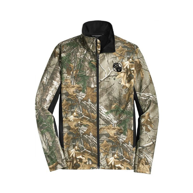 ACS218. Men's Port Authority® Camouflage Color Block Soft Shell Jacket