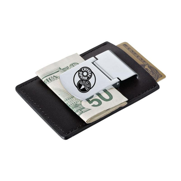 ACS500. Spring Loaded Leather Money Clip