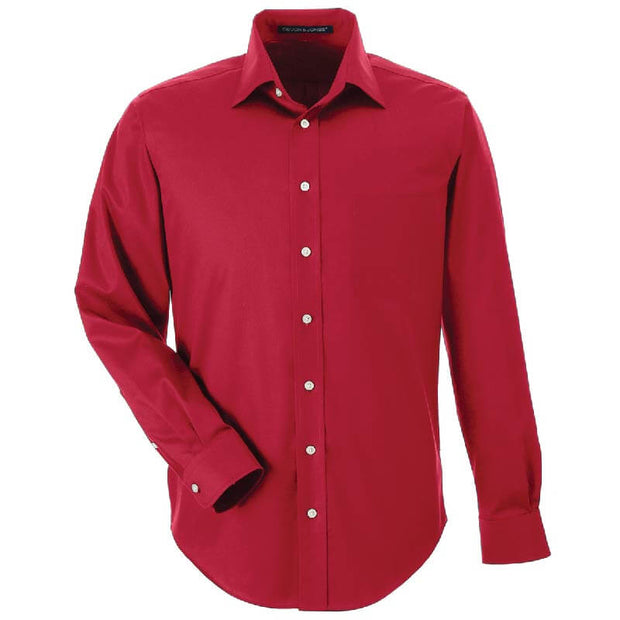 BB2011. Men's Solid Stretch Twill Dress Shirt