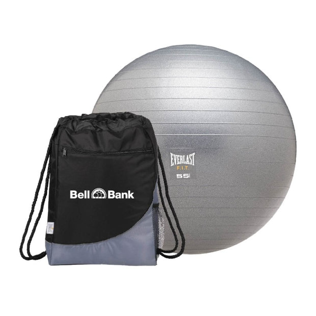 BB4039. Everlast Exercise Ball w/ Drawstring Sportspack