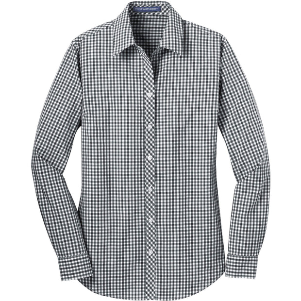 MAW104. Ladies' Port Authority® Long Sleeve Gingham Easy Care Shirt