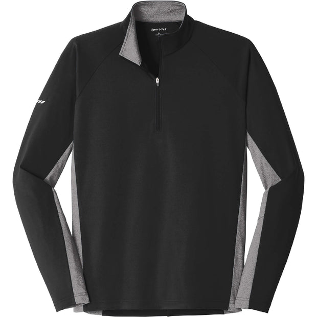 GC126. Men's Sport-Tek® Sport-Wick® Stretch Contrast 1/2-Zip Pullover