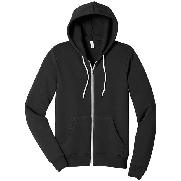 KM102. Unisex Full Zip Hooded Sweatshirt