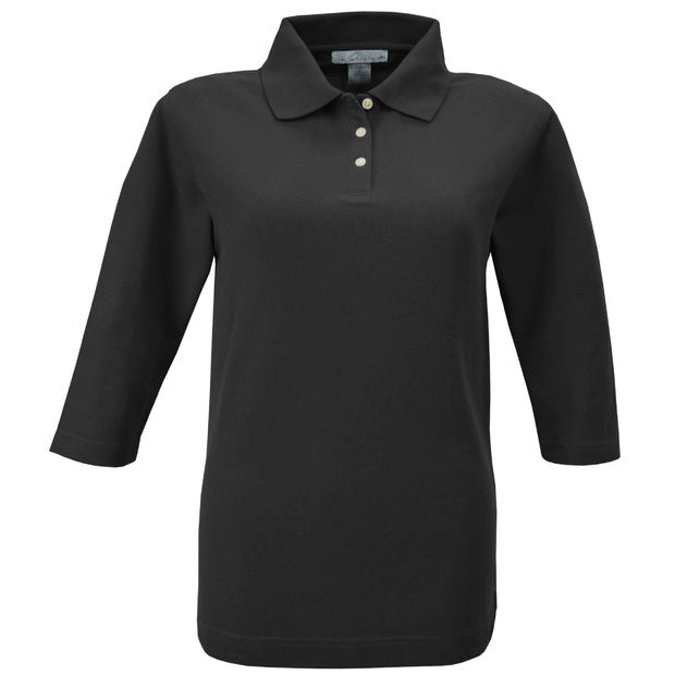 PP104. Ladies' Pique Knit 3/4-Sleeve Polo