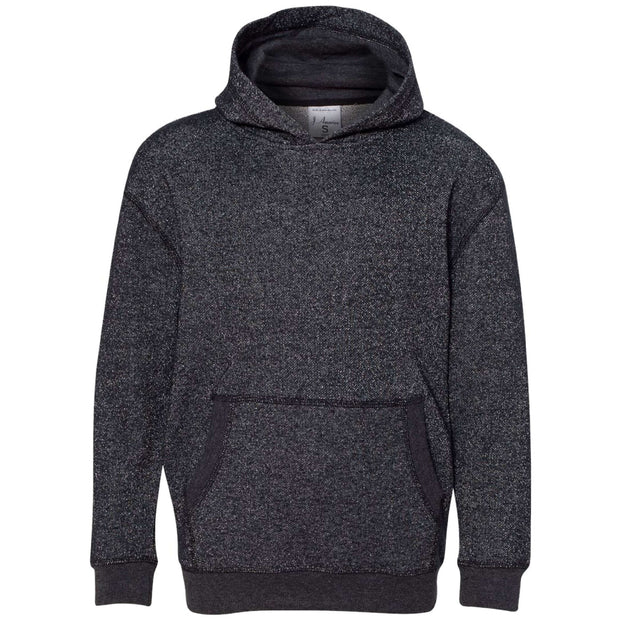 BB3009. Youth Glitter Hooded Pullover
