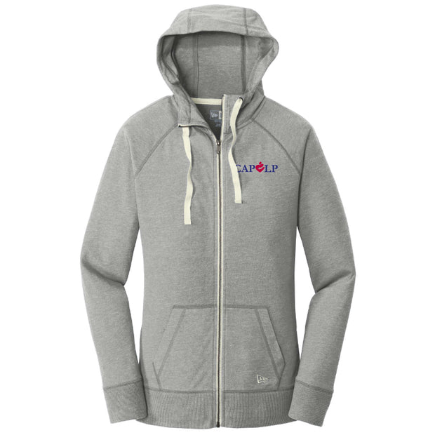 CAPLP107. Ladies Sueded Cotton Blend Full-Zip Hoodie